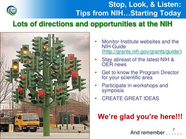 Stop, Look, & Listen: