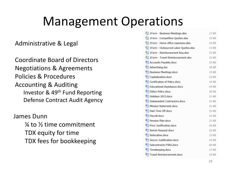 Management Operations