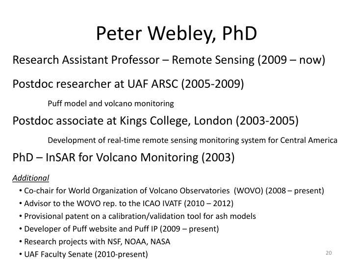 Peter Webley, PhD