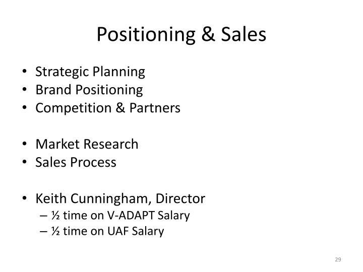 Positioning & Sales