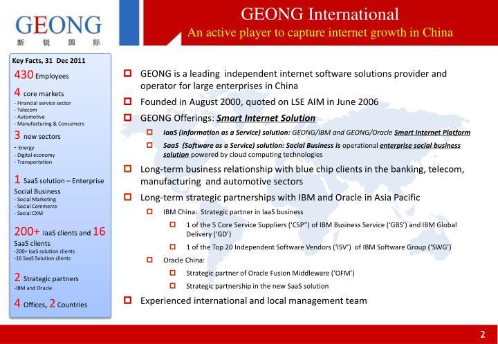 GEONG International