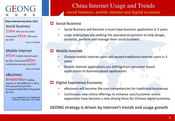 China Internet Usage and Trends