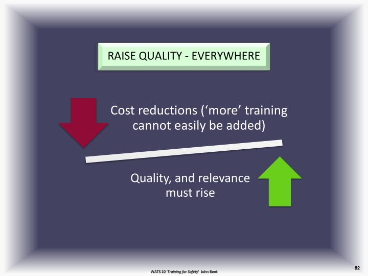RAISE QUALITY - EVERYWHERE