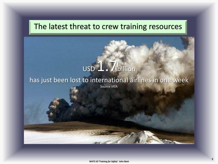 The latest threat to crew training resources