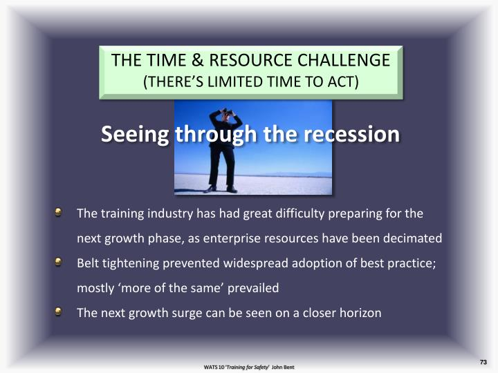 THE TIME & RESOURCE CHALLENGE