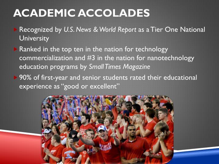 Academic Accolades