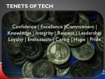 tenets of tech