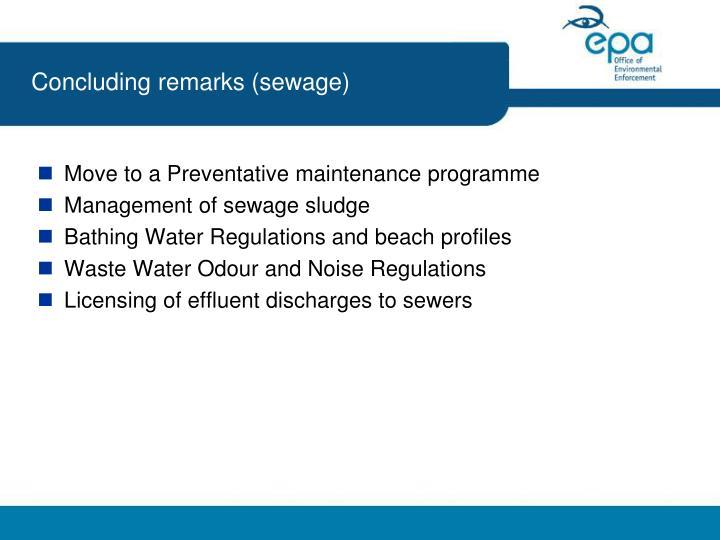 Concluding remarks (sewage)