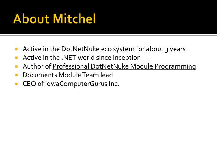 About Mitchel