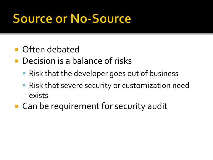 Source or No-Source
