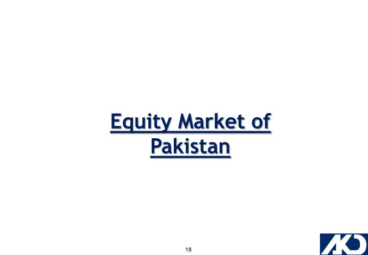 Equity Market of Pakistan