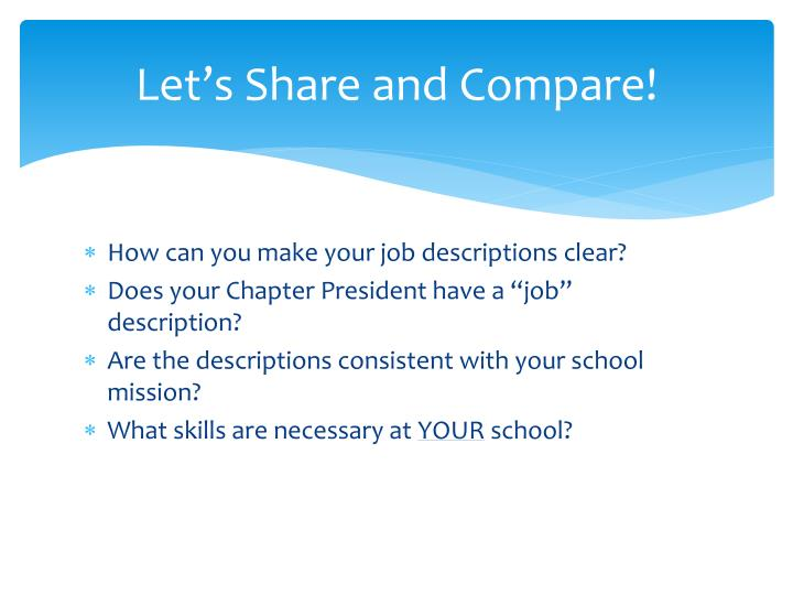 Let's Share and Compare!
