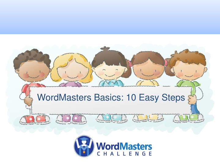 Wordmasters basics 10 easy steps