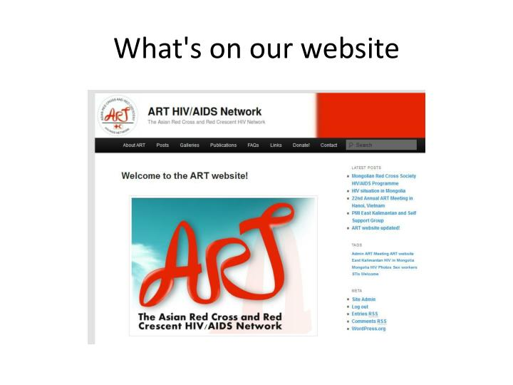 What's on our website