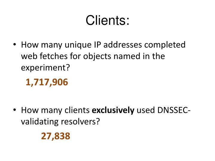 Clients: