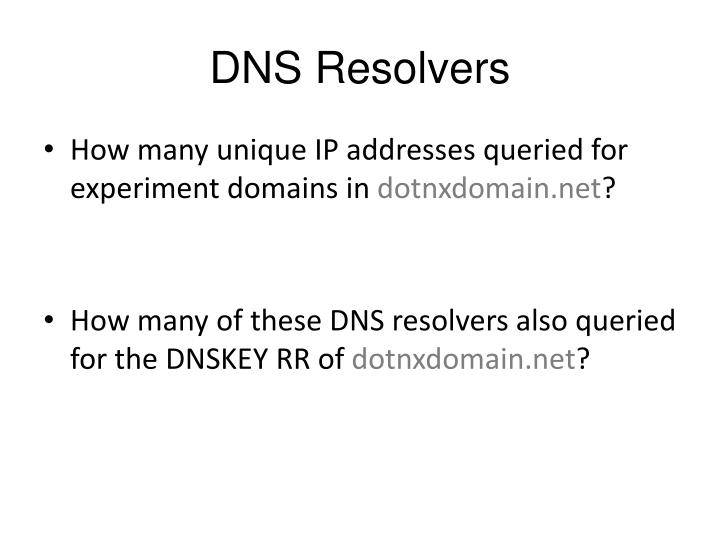 DNS Resolvers