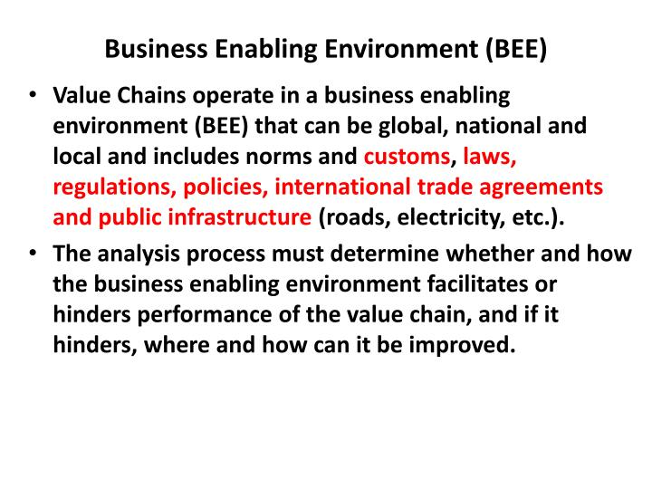 Business Enabling Environment (BEE)