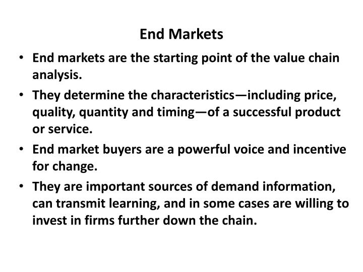 End Markets