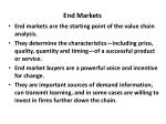 end markets
