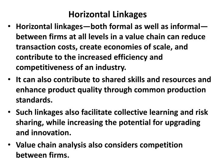 Horizontal Linkages