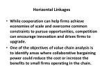 horizontal linkages1