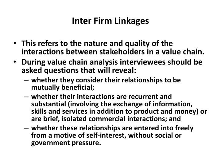 Inter Firm Linkages
