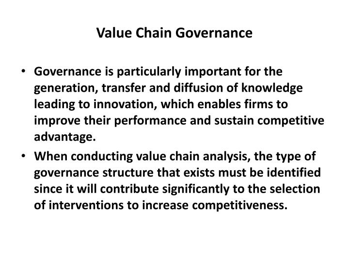 Value Chain Governance