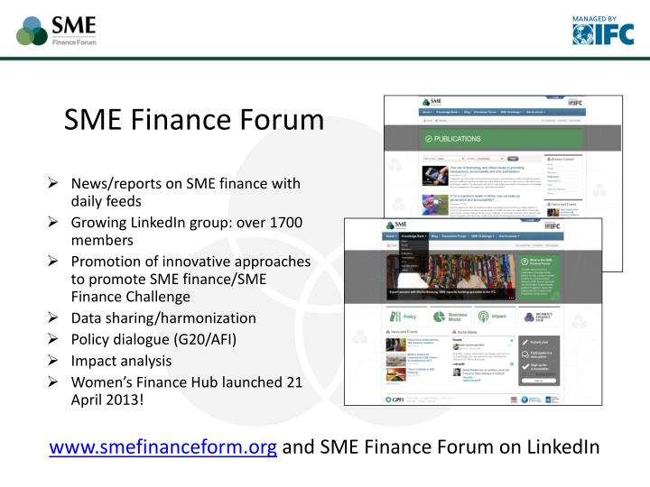 News/reports on SME finance with daily feeds
