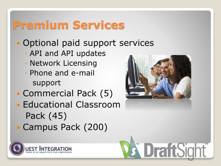 Optional paid support services
