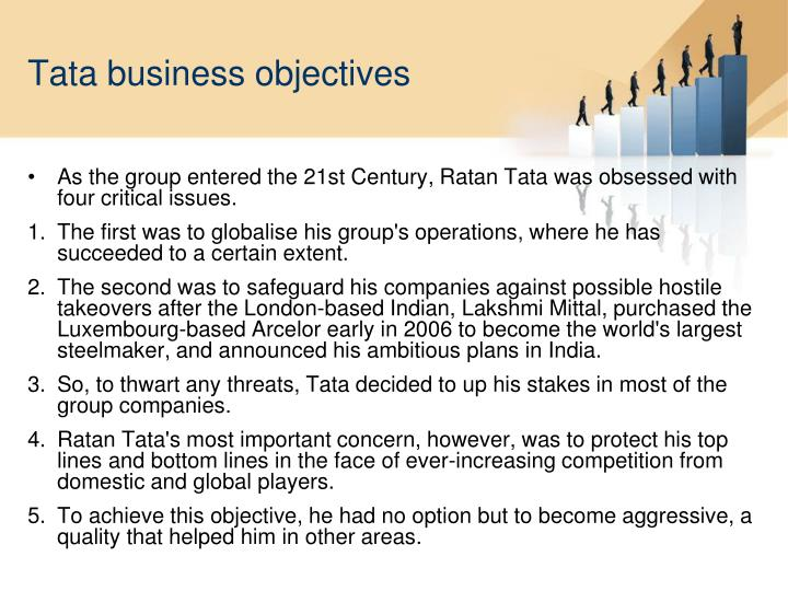 Tata business objectives