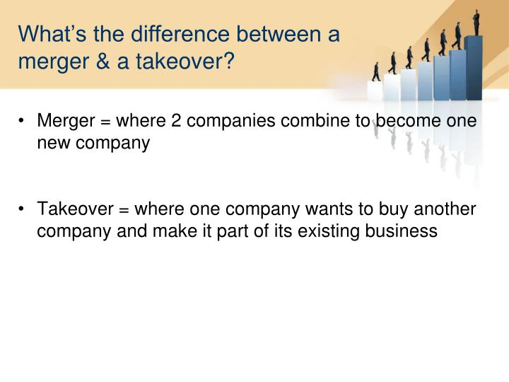 What's the difference between a merger & a takeover?