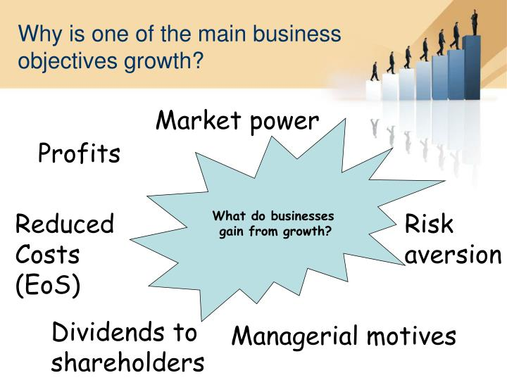 Why is one of the main business objectives growth