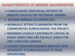 characteristics of mining co operatives
