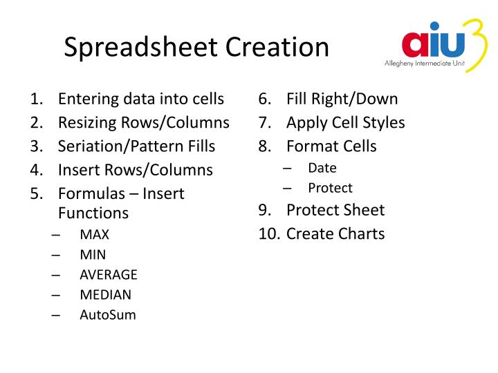 Spreadsheet Creation
