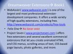 dreamweaver extensions book1