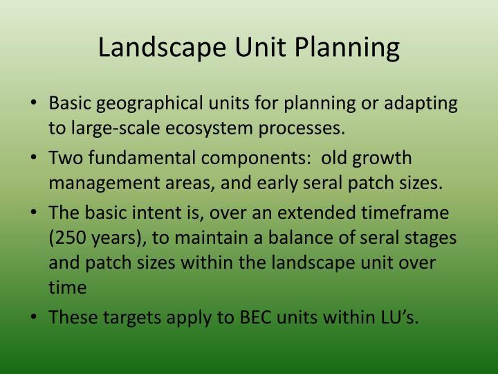 Landscape Unit Planning