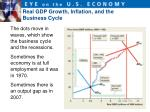 real gdp growth inflation and the business cycle1