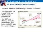 the national bureau calls a recession2