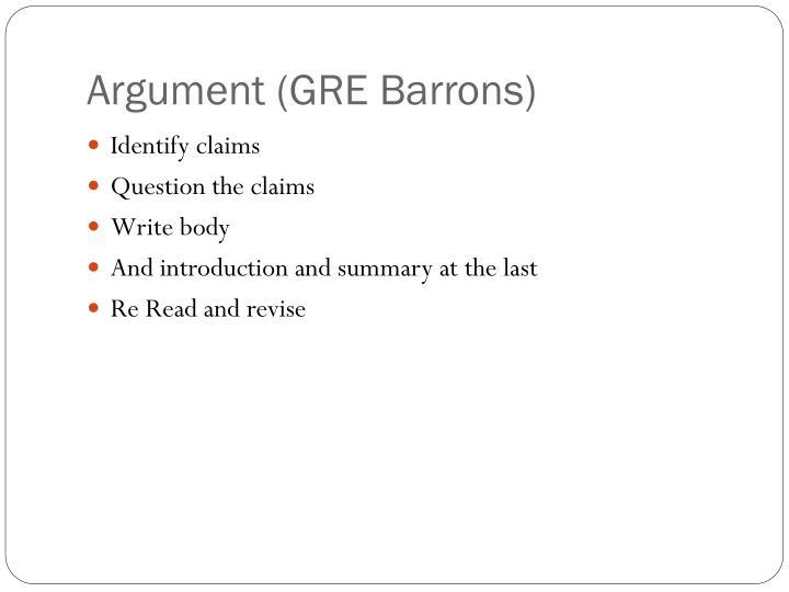 Argument (GRE