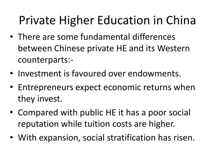 Private Higher Education in China