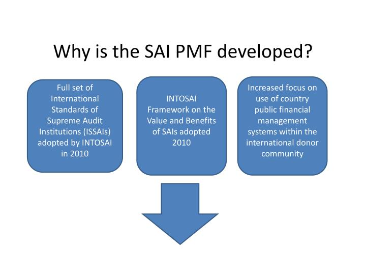 Why is the SAI PMF developed?