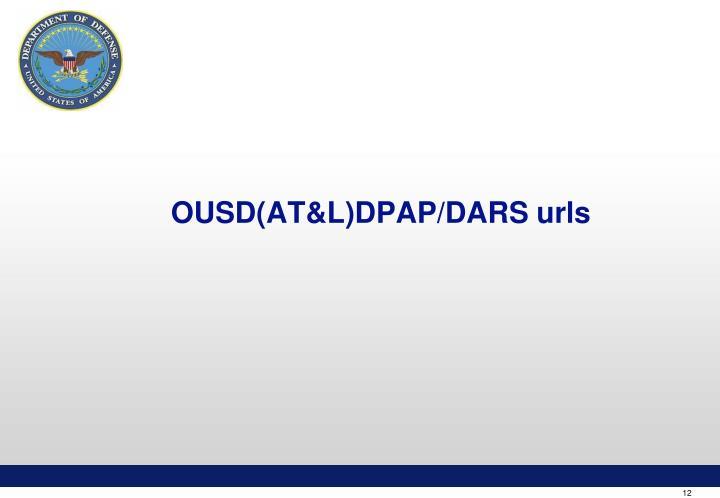 OUSD(AT&L)DPAP/DARS urls