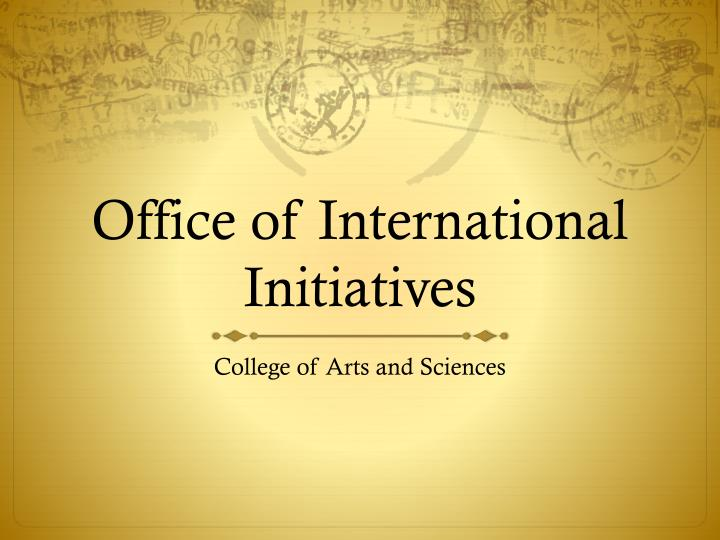 office of international initiatives