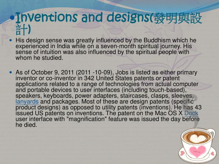 Inventions and designs(