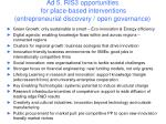 ad 5 ris3 opportunities for place based interventions entrepreneurial discovery open governance