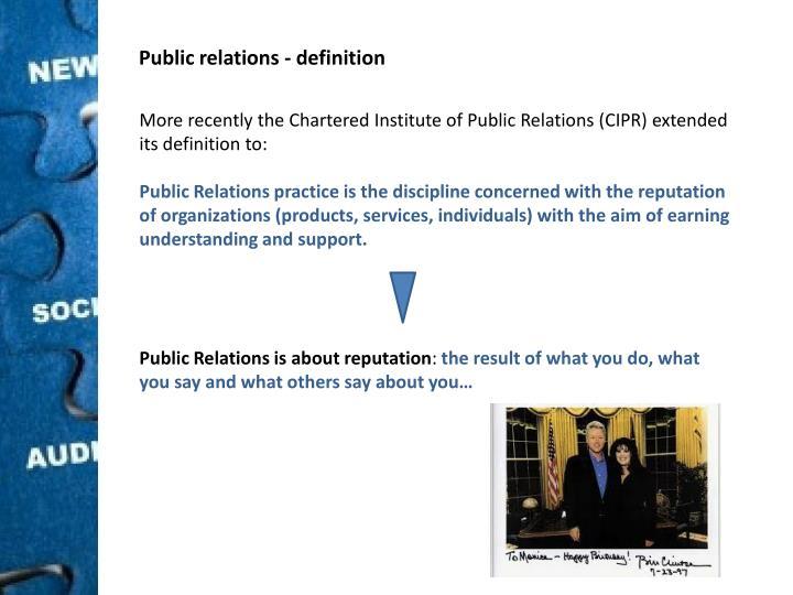 Public relations -