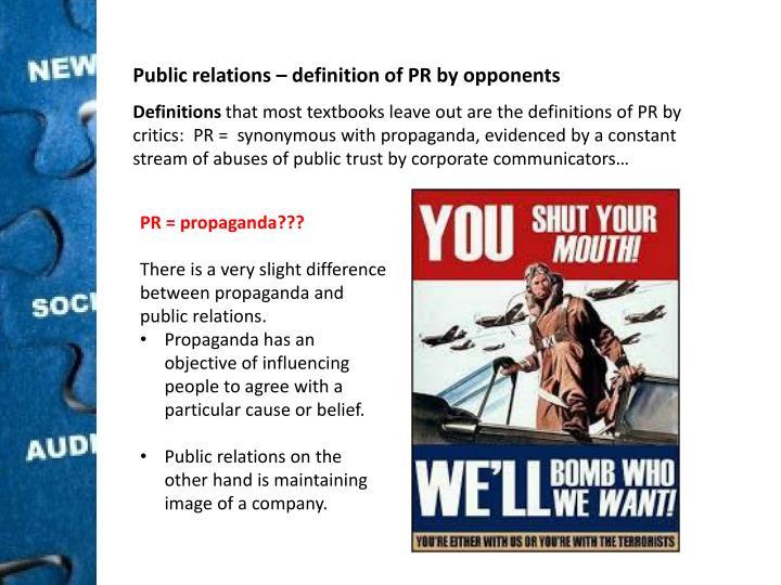 Public relations –