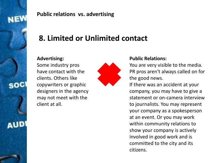 Public relations  vs.