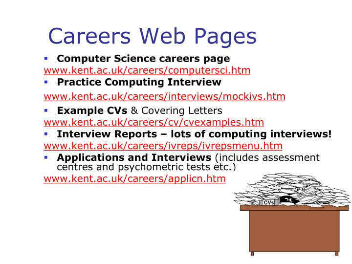 Careers Web Pages