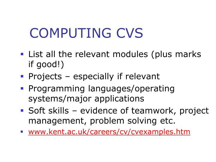 COMPUTING CVS